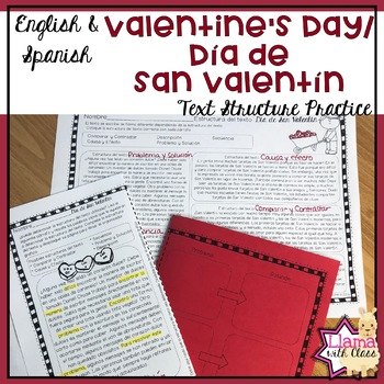 Valentines day text structure practice in english spanish tpt valentines day text structure practice in english spanish stopboris Image collections