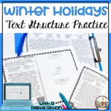 Winter Holidays Text Structure Practice