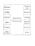 Exploring Theatre Chapter 1 Foldable