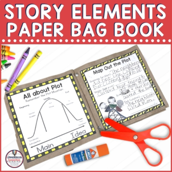 Parts of a Story Paper Bag Book for Primary Readers
