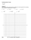 Exploring Transformations of Quadratic Functions