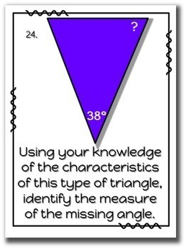 Exploring Triangles Deluxe Task Card Set - Classifying & Finding Missing Angles!