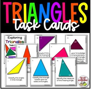 Exploring Triangles Deluxe Task Card Set - Classifying & F