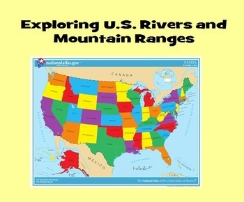 Exploring US Rivers And Mountain Ranges By Joy Bassett TpT - Mountain ranges in us map