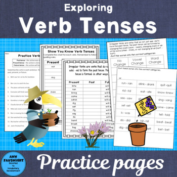 Exploring Verb Tenses: Activities, Games, Practice, Resources for Notebooks