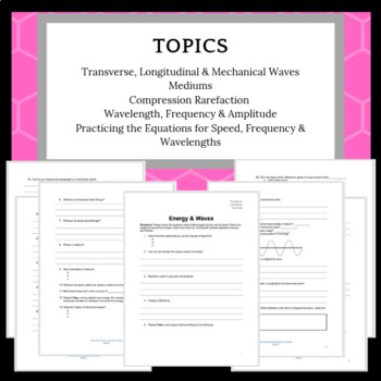 Mechanical/Longitudinal/Transverse Waves Structure Packet or Review Sheet