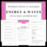 Mechanical/Longitudinal/Transverse Waves Structure Packet or Review Sheet