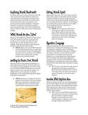 Exploring Words Bookmark