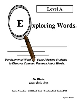 Level A Complete Word Study Book - Exploring Words