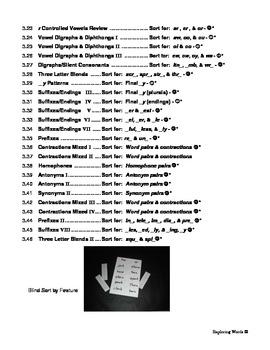 Short & Long Vowel Word Sort Bundle (Level 3) - Exploring Words