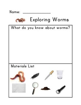 Exploring Worms Science Lab