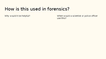 Exploring a Case with Forensics Powerpoint