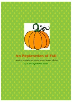 Pumpkin, fall themed science and math worksheets