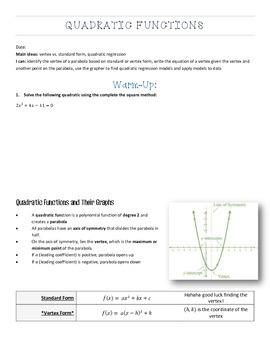 Exploring linear and quadratic polynomials