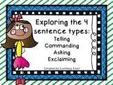 Exploring the 4 sentence types: telling, commanding, askin
