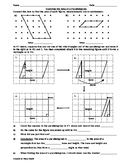 Exploring the Area of Parallelograms Worksheet - Teaching the Lesson