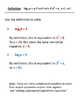 Exploring the Definition and Properites of Logarithms