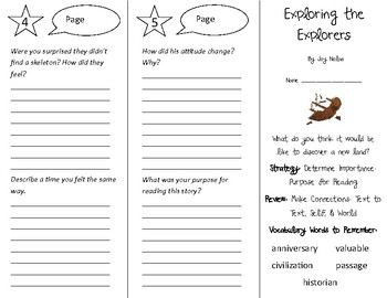 Exploring the Explorers Trifold - 4th Grade Literacy by Design Theme 10