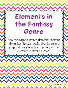 Fantasy Genre Worksheet Exploring Common Elements By