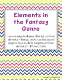 Fantasy Genre Worksheet - Exploring common elements