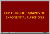 Exploring the Graphs of Exponential Functions