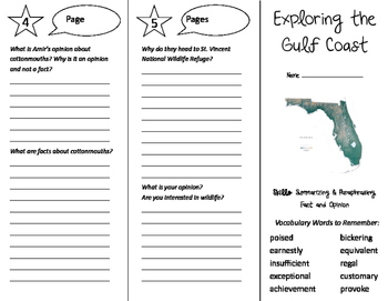 Exploring the Gulf Coast Trifold - Storytown 5th Grade Unit 6 Week 5