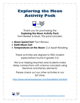 Exploring the Moon Activity Pack