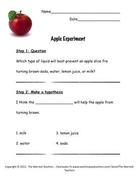 Exploring the Scientific Method with Apples