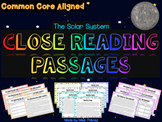 Exploring the Solar System - Close Reading Passages and Gr