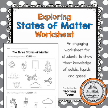 States Of Matter Worksheets Teachers Pay Teachers