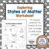 Exploring the States of Matter Worksheet