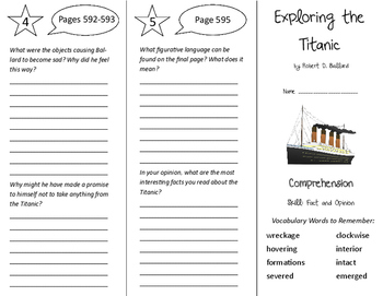 Exploring the Titanic Trifold - California Treasures 6th Grade Unit 5 Week 5