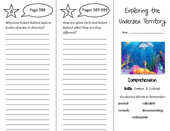 Exploring the Undersea Territory Trifold - Treasures 4th G