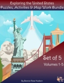 Exploring the United States: Puzzles, Activities, and Map Work Bundle