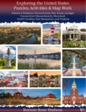 Exploring the United States: Puzzles, Activities, and Map Work, Volume 1