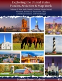 Exploring the United States: Puzzles, Activities, and Map Work, Volume 2