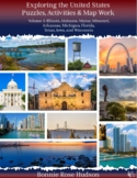 Exploring the United States: Puzzles, Activities, and Map Work, Volume 3