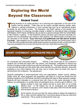 """TRAVEL - """"Exploring the World  BEYOND the Classroom"""""""