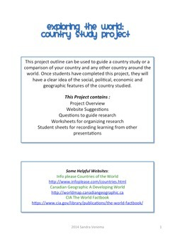 Country Study Research Project