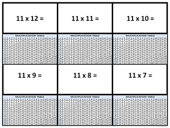"""Explorers """"Multiplication Fact Tables"""" (Task Cards)"""