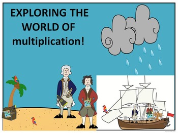 Multiplication Fact Tables: Task Cards (Explorer - Columbus Day)