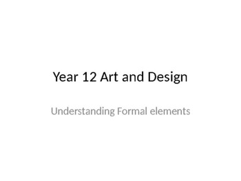 Exploring the formal elements