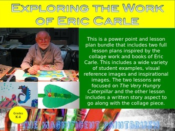 Exploring the work of Eric Carle: 2 Eric Carle Inspired Ar