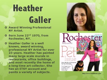 Exploring the work of Heather Galler: Power Point