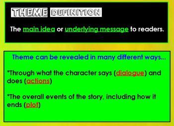 Exploring theme in literature NOTES