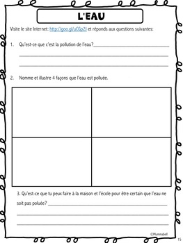 Explorons les liquides - A French Science Inquiry Resource