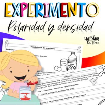 Explosión de lava - experimento polaridad y densidad de dos sustancias líquidas