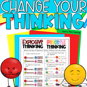 Explosive or Peaceful Thinking; Anger Management SEL lesson; angry; temper