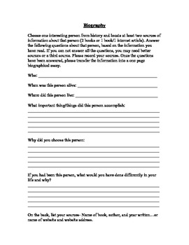 Expository Writing: Biography