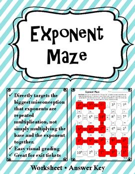 Exponent Activity Bundle. Exponent Maze, Exponent War, Exponent Matching